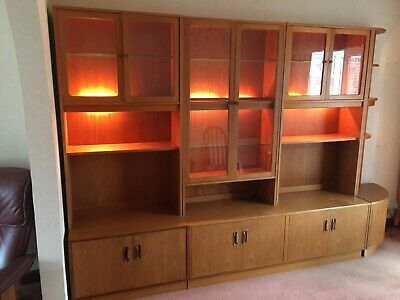 G Plan Retro Teak Wall Cabinets X3 & Corner Unit 1970s  • 145£