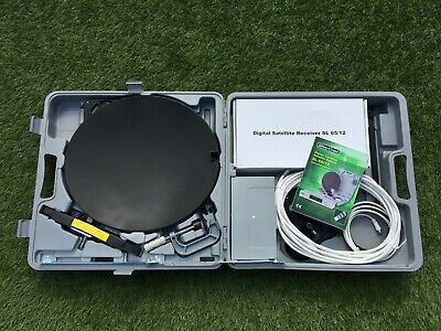 Digital Portable Caravan Camping Satellite System Complete With Case&Accessories • 50£