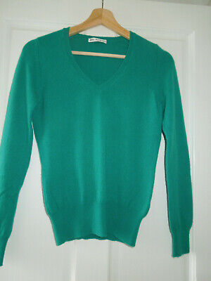 Marks And Spencer Autograph Pure Cashmere Jumper In Emerald Green. Size 8 • 10.49£