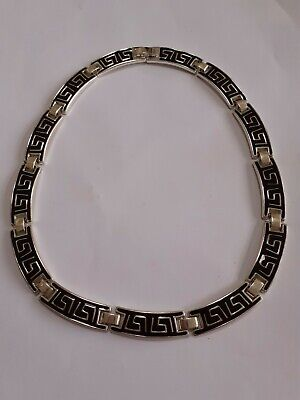 Greek Key Design Necklace 16 Inches Long • 1£