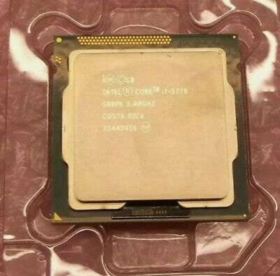 INTEL CORE I7-3770 3.40-3.9GHz QUAD CORE LGA 1155 SR0PK CPU • 267£
