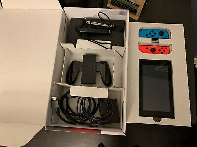 $ CDN356.78 • Buy Nintendo Switch 32GB Gray Console With Neon Red And Neon Blue Joy-Con
