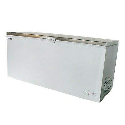 Maxi 550s Stainless Steel Lid Catering Commercial Chest Freezer & Free Delivery • 675£