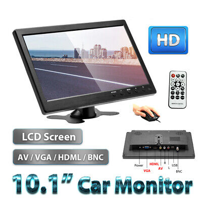 10  Inch TFT Diaplay Screen Security Monitor AV/VGA/HDMI With Build-in Speaker • 52.99£