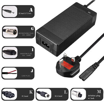 24/36/48/60V Lithium Battery Power Supply Charger For Electric Bicycle E-bike • 22.99£