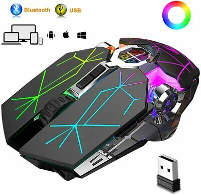 AU30.07 • Buy Bluetooth Gaming Mouse,Rechargeable Wireless Mice RGB LED Backlit For PC Mac OSX