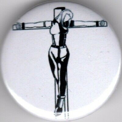 SKINHEAD Pin(Button) Badge CRUCIFIED SKINGIRL VESPA LAMBRETTA SCOOTER TROJAN   • 1.15£