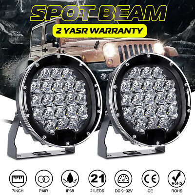 AU71.29 • Buy 2Pcs 7inch LED Driving Lights Pair Round Spot Offroad 4x4 Work SUV
