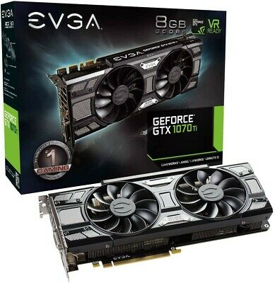 $ CDN214.35 • Buy EVGA GTX 1070 Ti SC Black Edition 8GB GDDR5 Graphics Card 08G-P4-5671-KR