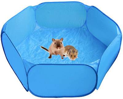 Playpen Pen Heppurg Guinea Pig Indoor Run Hamster Small Animal Play Blue • 17.49£