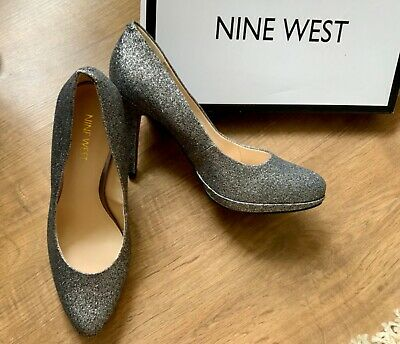 Designer NINE WEST Glitter Court Shoes Size 5/38 (US 7W) New! Christmas Party! • 6.50£