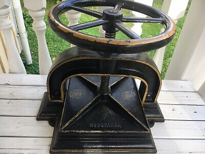 Antique Cast Iron Book Press HUSQVARNA Large Heavy And Showing Original Decals • 295£
