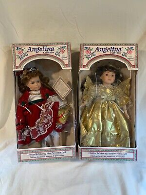 $ CDN9.24 • Buy Lot Of 2 Limited Edition Porcelain Vintage Doll Angelina Collection 1997   E721