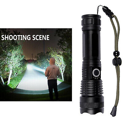 AU22.72 • Buy Powerful LED Flashlight XHP50 XHP70.2 USB Rechargeable Torch For Outdoor Sports