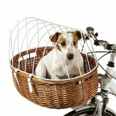 BICYCLE BASKET RACK Travel Cycling Dog Cat Bike Carrier Wicker • 65.99£