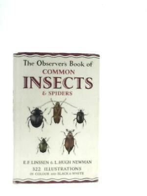 £10.19 • Buy The Observer's Book Of Common Insects And Spiders (Linssen - 1962) (ID:50896)