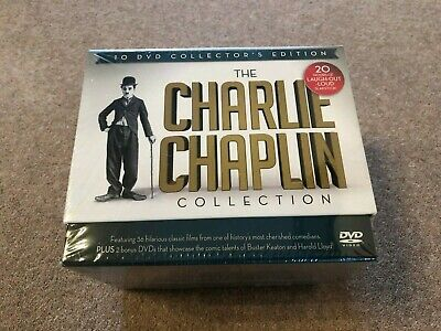 DVD - The Charlie Chaplin Collection - 10 DVD Collector's Edition - NEW & SEALED • 20£