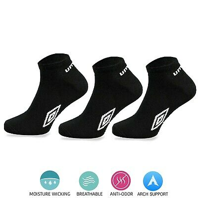 Umbro® Mens Sports Running Athletic Socks No Show Dry Fit  Low Cut Liner UK 6-11 • 4.99£