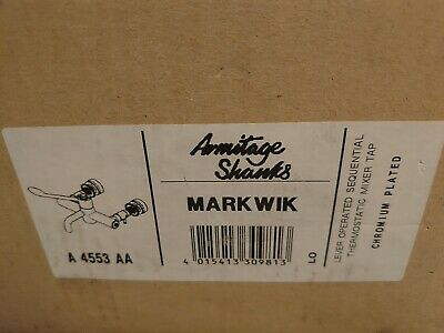 Armitage Shanks Markwik A4553 Lever Operated Sequential Thermostatic Mixer Tap • 140£