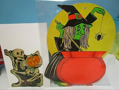 $ CDN19.81 • Buy Vintage Lot Of 2 Halloween Decorations Witch & Skeleton