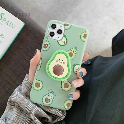 AU5.86 • Buy Cute Cartoon Avocado Soft Phone Case Cover For IPhone 12 11 Pro Max 6/7/8+Holder