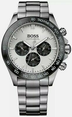 Hugo Boss  HB1512964  Men's  Ikon  Silver & Black Face  Chronograph Quartz Watch • 51£