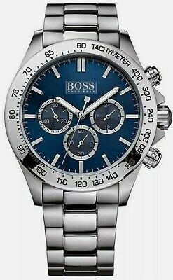 Hugo Boss  HB1512963  Men's  Ikon  Blue Dial Silver Bracelet Chronograph  Watch  • 78£