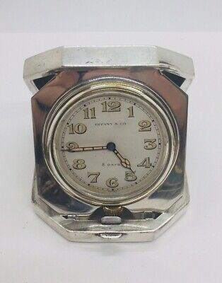AU772.53 • Buy Tiffany & Co. Antique Sterling Silver Manual Wind 8 Day Travel Clock