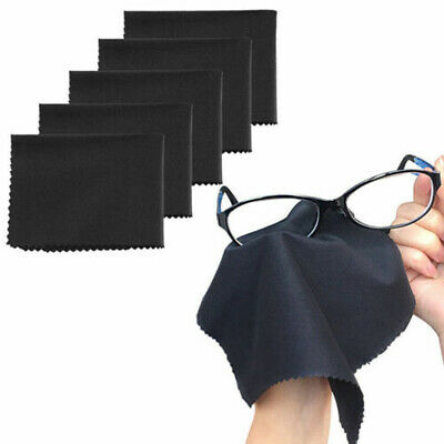 10Pcs Black Cleaning Wipe Cloth Lens Screen Microfiber Glasses Cleaning  • 3.09£
