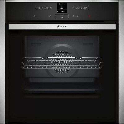 £889.98 • Buy Neff N70 Slide & Hide Pyrolytic Self Cleaning Electric Single Oven - Stainless S
