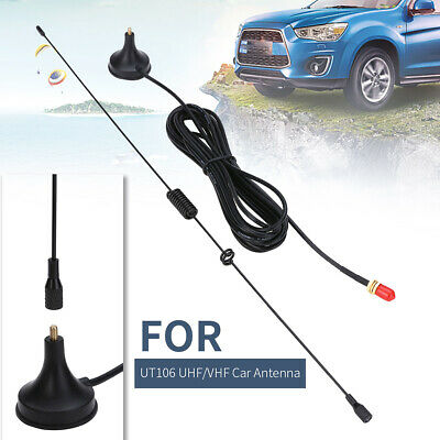 UHF/VHF SMA-F Dual Bands Car Radio Antennas UT106 For BAOFENG UV5R/Puxing/TYT UK • 5.59£