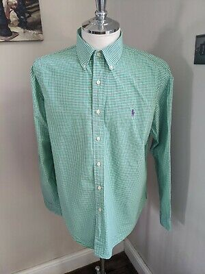 Ralph Lauren Gingham Long Sleeve  Shirt Size XL • 15£