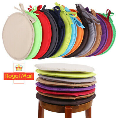 Round Garden Chair Pads Seat Cushion For Outdoor Bistro Stool Patio Dining UK • 2.99£