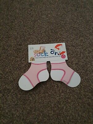 Sock Ons Girls Pink Brand New 0-6 Months  • 2.20£