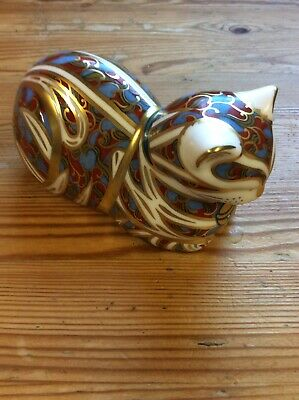 Royal Crown Derby -contented Cat- Animal Kitten Paperweight Figure Model Stopper • 13.50£