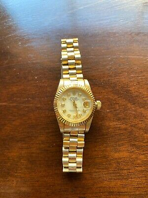 $ CDN3369.70 • Buy ROLEX LADIES STAINLESS STEEL & 18k YELLOW GOLD OYSTER PERPETUAL DATEJUST WATCH