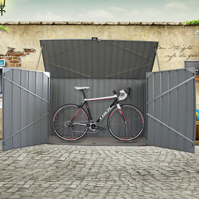 Galvanized Metal Steel Garden Bike Shed Tool Storage Shed Unit House Bicycle Box • 205.99£