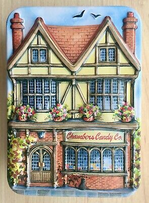 Village Sweet Shop Tin Empty Embossed Chambers Country Cottages Range • 3.99£