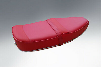 Vespa Pe Px T5 Pegasus Style Seat In Oxblood Red With Stainless Trims • 99.95£