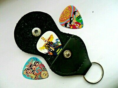 $ CDN7.03 • Buy Three  X  Beatles  Guitar Picks And  Keyring Pick Holder N