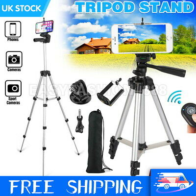 Universal Telescopic Tripod Stand SLR Camera Phone Holder For IPhone Samsung UK • 11.79£
