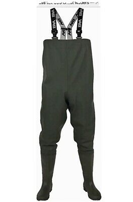 VASS Tex 600 Series PVC Chest Waders *Size 11* New,carp Fishing • 30£