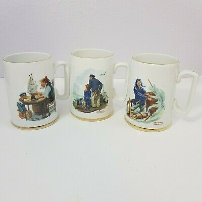 $ CDN22.71 • Buy Norman Rockwell Museum Collection 1985 Coffee Cup/Mugs Set Of 3