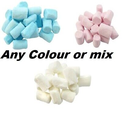 £6.25 • Buy Blue White Pink Mini Marshmallows Retro Sweets Party Bag Baby Shower Halal