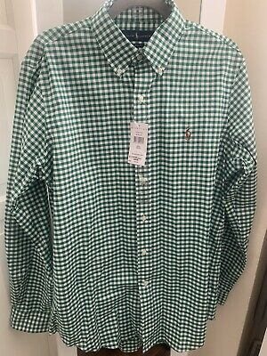 Ralph Lauren Gingham Oxford Shirt Rrp £95 • 30£