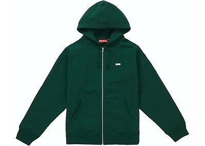 $ CDN294.04 • Buy Supreme Reflective Small Box Zip Up Sweatshirt Hoodie Size M Dark Green FW18