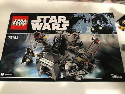 AU79.95 • Buy LEGO Star Wars Darth Vader Transformation - 75183 - Complete With Instructions