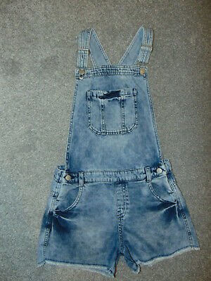 Girls' Age 12-13 Years, Denim Dungarees By F&F, Very Good Condition • 6.99£
