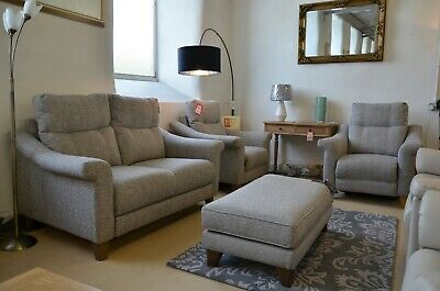 G Plan 3 Piece Suite Flair 2 Seater Sofa & 2 Electric Recliners Armchairs Grey • 1,899£