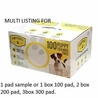 £13.95 • Buy 1 100 200 300 Dog Puppy House Large Absorbent Training Trainer Pads Toilet Wee